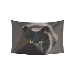"""Cat Yellow Eyes Low Poly Triangles Cotton Linen Wall Tapestry 60""""x 40"""""""