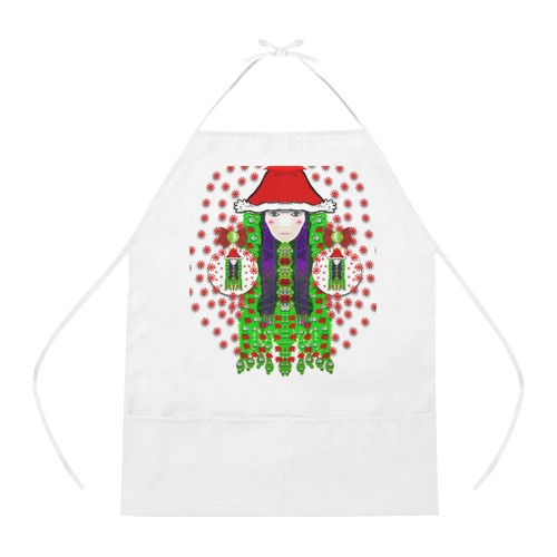 Lady Santa Cotton Linen Apron