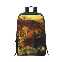 Tiger Face Unisex Slim Backpack (Model 1664)