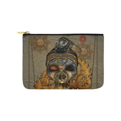 Awesome steampunk skull Carry-All Pouch 9.5''x6''