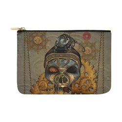 Awesome steampunk skull Carry-All Pouch 12.5''x8.5''