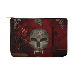 Skull with celtic knot Carry-All Pouch 12.5''x8.5''