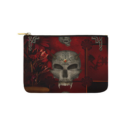 Skull with celtic knot Carry-All Pouch 9.5''x6''