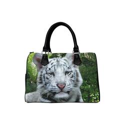 White Tiger Boston Handbag (Model 1621)