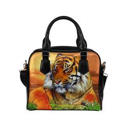 Sumatran Tiger Shoulder Handbag (Model 1634)