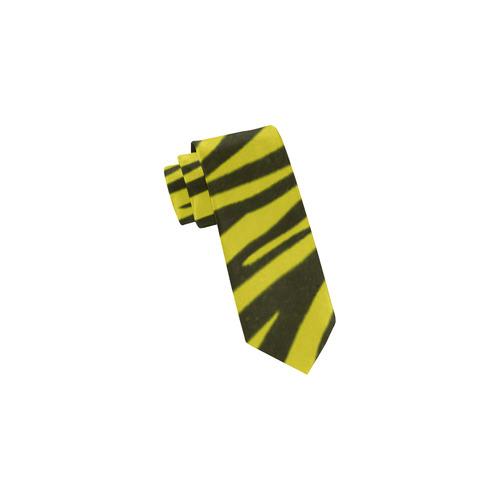 Yellow Zebra Stripes Classic Necktie (Two Sides)