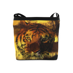 Tiger Face Crossbody Bags (Model 1613)