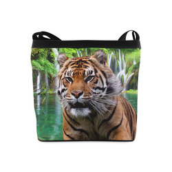 Tiger and Waterfall Crossbody Bags (Model 1613)