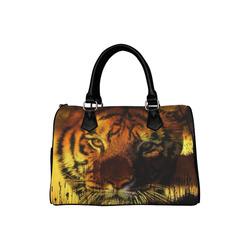 Tiger Face Boston Handbag (Model 1621)