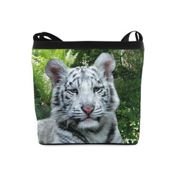 White Tiger Crossbody Bags (Model 1613)