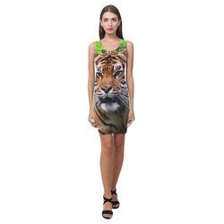 Tiger and Waterfall Medea Vest Dress (Model D06)