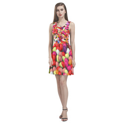 funny Jelly Mix by JamColors Thea Sleeveless Skater Dress(Model D19)