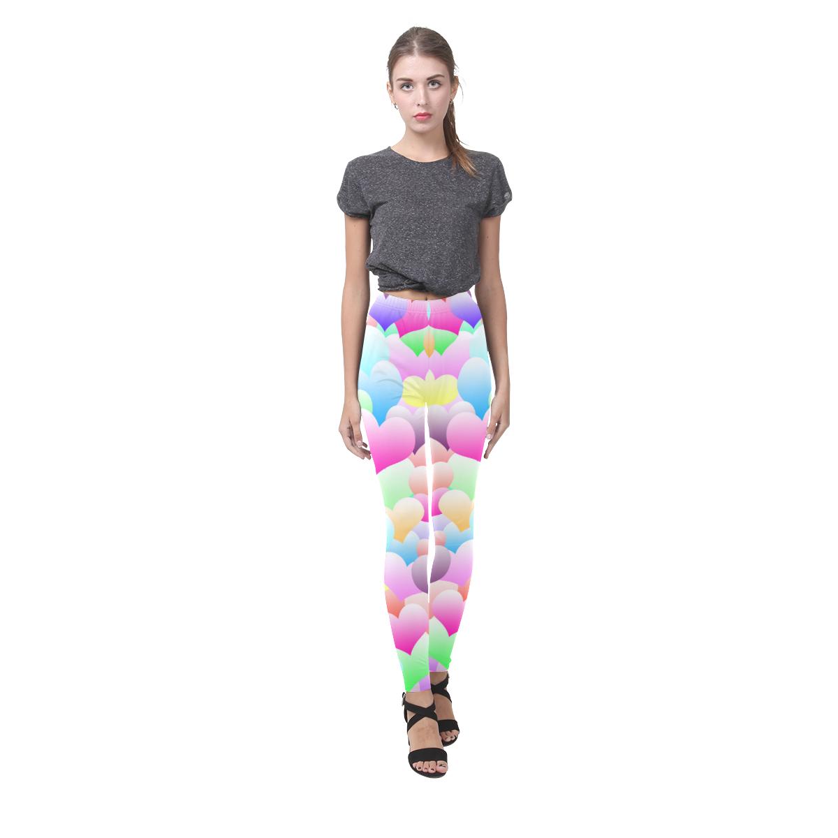 Bubble Hearts Light Cassandra Women's Leggings (Model L01)