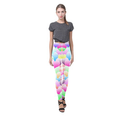 Bubble Hearts Light Cassandra Women's Leggings (Model L01)