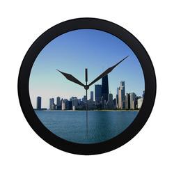 Chicago Skyline Circular Wall Clock Circular Plastic Wall clock