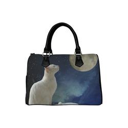 Cat and Moon Boston Handbag (Model 1621)