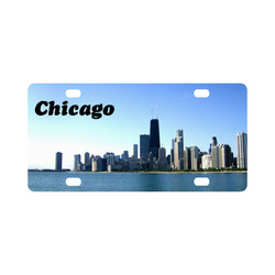 Chicago Skyline License Plate Classic License Plate