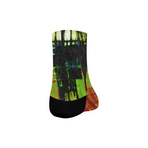 Grunge texture Quarter Socks