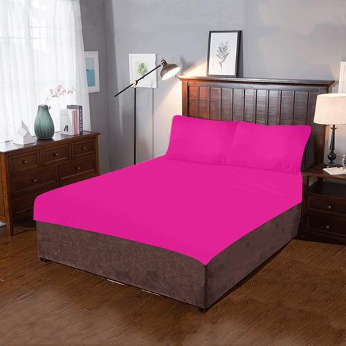 hot pink 3-Piece Bedding Set