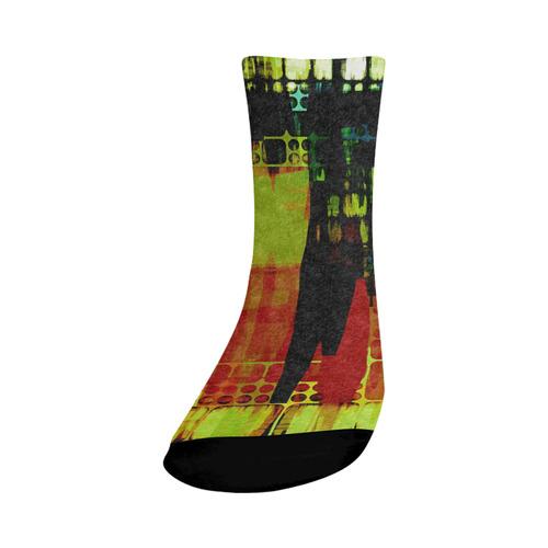 Grunge texture Crew Socks