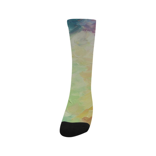 Painted canvas Trouser Socks