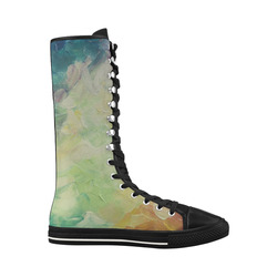 Painted canvas Canvas Long Boots For Women Model 7013H