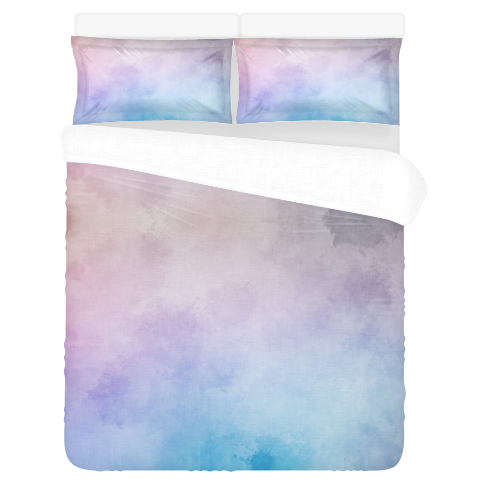 Lovely Aquarell Moves 3-Piece Bedding Set