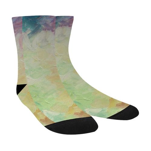 Painted canvas Crew Socks