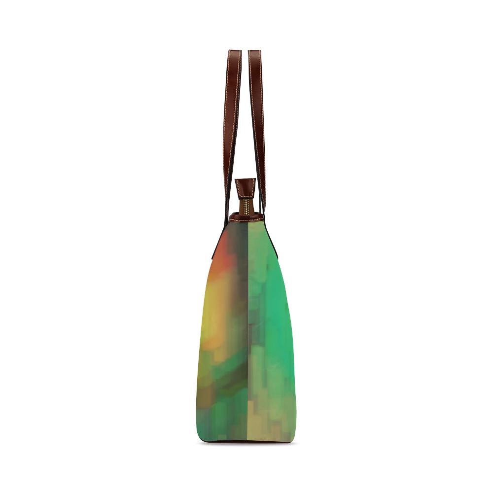Pastel shapes painting Shoulder Tote Bag (Model 1646)