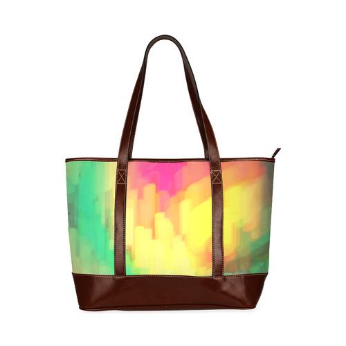 Pastel shapes painting Tote Handbag (Model 1642)