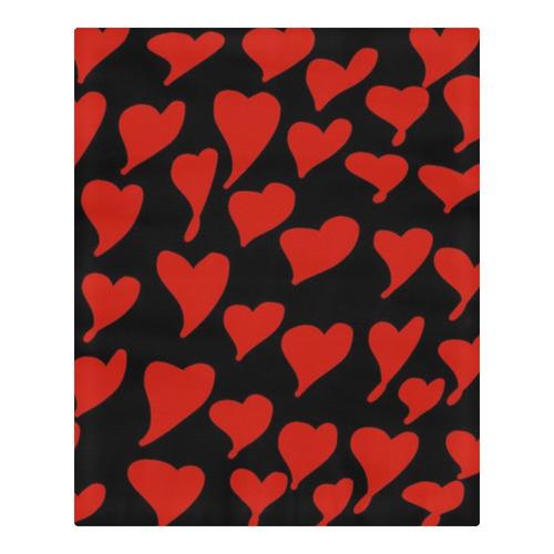 Hearts 3-Piece Bedding Set