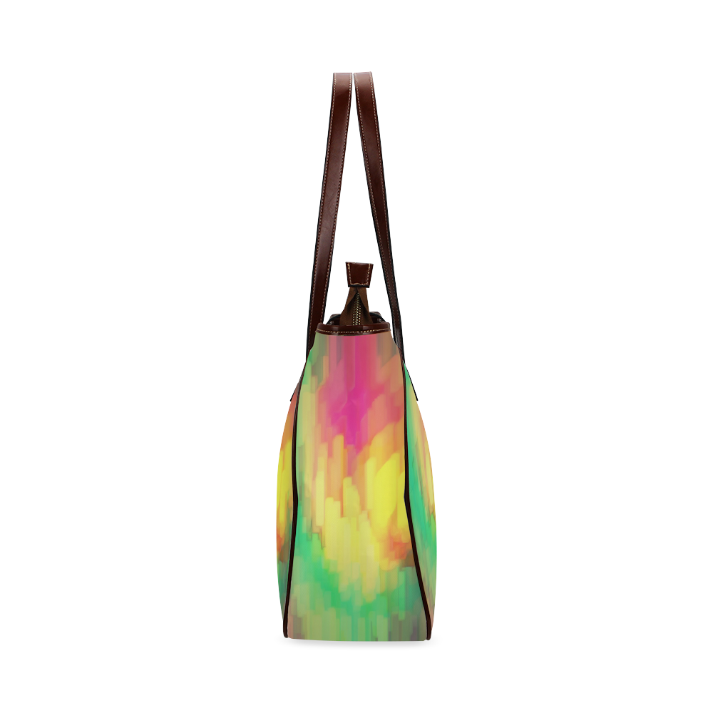 Pastel shapes painting Classic Tote Bag (Model 1644)