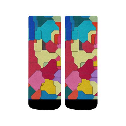Colorful leather pieces Quarter Socks