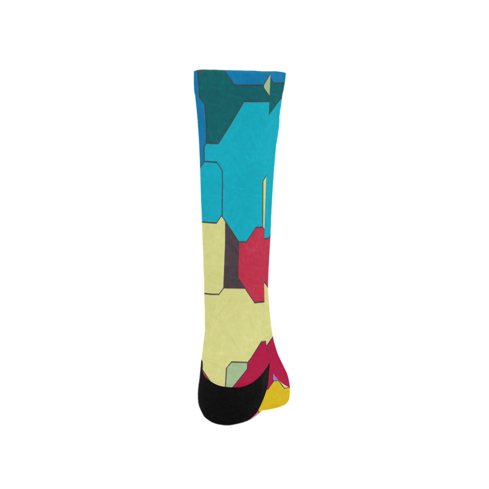 Colorful leather pieces Trouser Socks