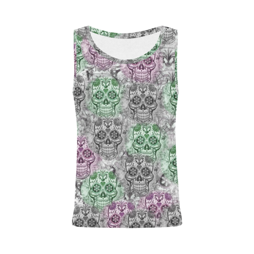 Skulls 1117B by JamColors All Over Print Tank Top for Women (Model T43)