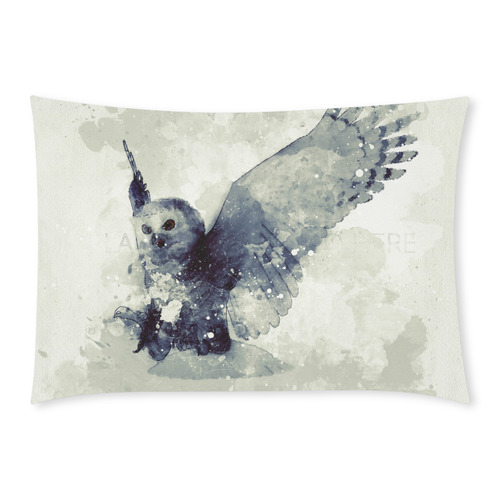 Wonderful owl, watercolor Custom Rectangle Pillow Case 20x30 (One Side)