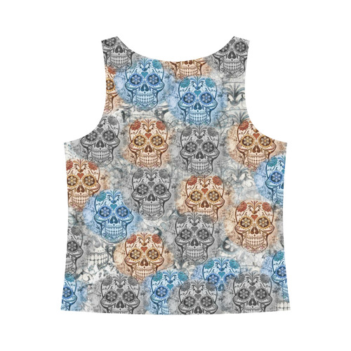 Skulls 1117A by JamColors All Over Print Tank Top for Women (Model T43)