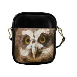 Owl Low Poly Geometric Triangles Sling Bag (Model 1627)