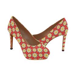 Sunflowers Women's High Heels (Model 044)
