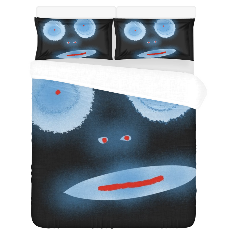 Face 3-Piece Bedding Set