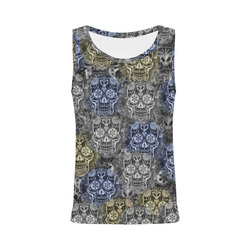 Skulls 1117C by JamColors All Over Print Tank Top for Women (Model T43)