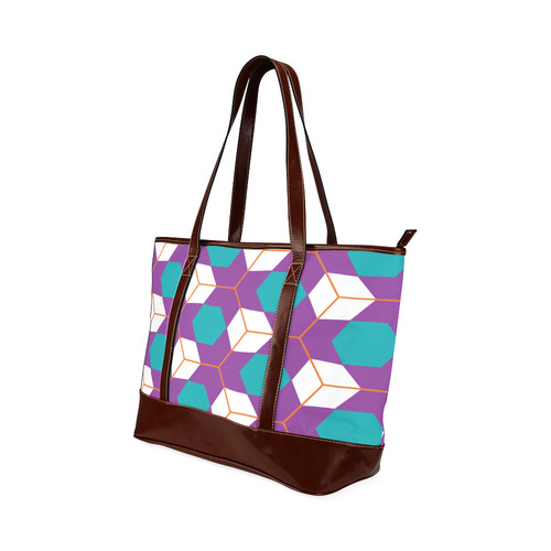 Cubes in honeycomb pattern Tote Handbag (Model 1642)