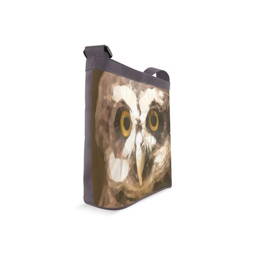Owl Low Poly Geometric Triangles Crossbody Bags (Model 1613)
