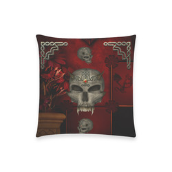 "Skull with celtic knot Custom  Pillow Case 18""x18"" (one side) No Zipper"