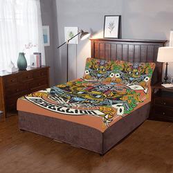 Street Rebellion Modern Sienna Brown 3-Piece Bedding Set