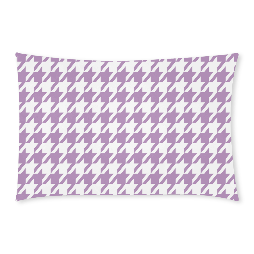 lilac and white houndstooth classic pattern 3-Piece Bedding Set