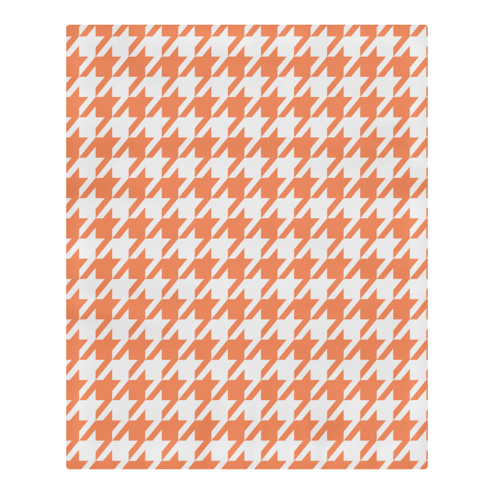 orange and white houndstooth classic pattern 3-Piece Bedding Set