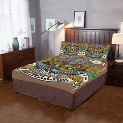 Street Rebellion Modern Brown 3-Piece Bedding Set