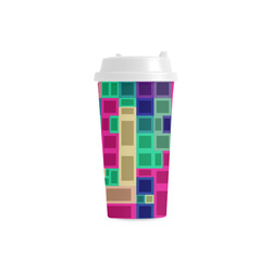 Rectangles and squares Double Wall Plastic Mug