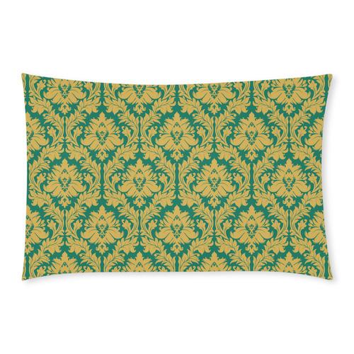 autumn fall green mustard yellow damask 3-Piece Bedding Set